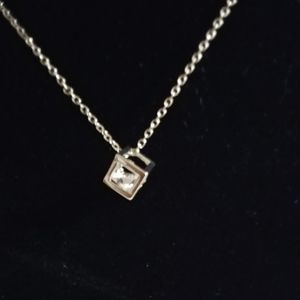 NWOT! Box Crystal Necklace